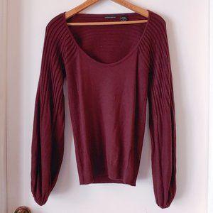 VS Moda International Silk Cashmere Maroon Sweater